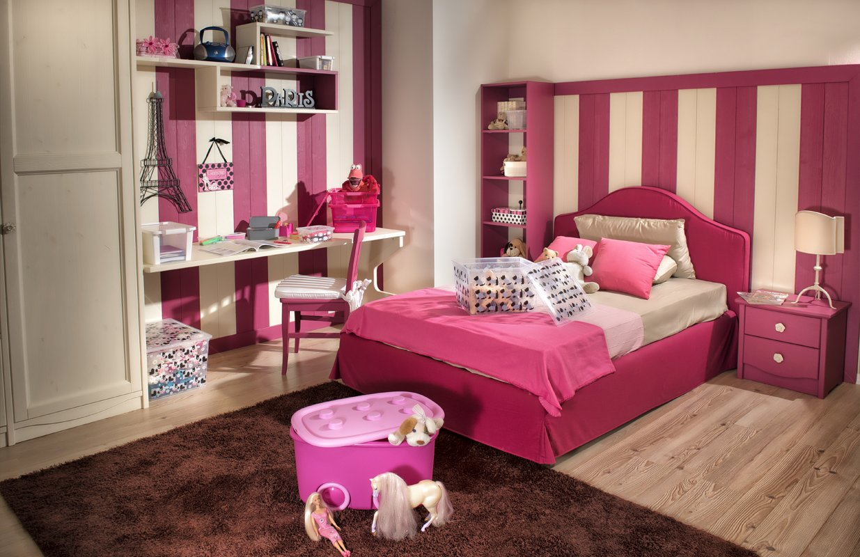 Cómo organizar el dormitorio de una niña