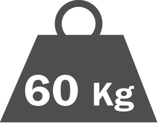 Portata per ripiano 60 kg