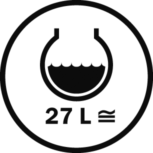 Capacità 27 L
