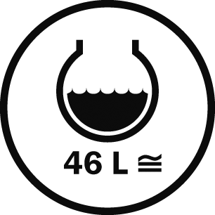 Capacità 46 L