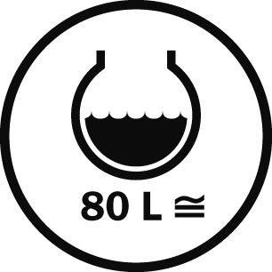 Capacità 80 L