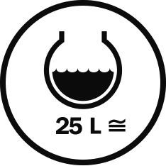 Capacità 25 L