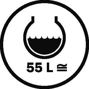Capacità 55 L